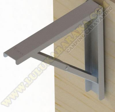 Escuadra plegable 400mm. gris