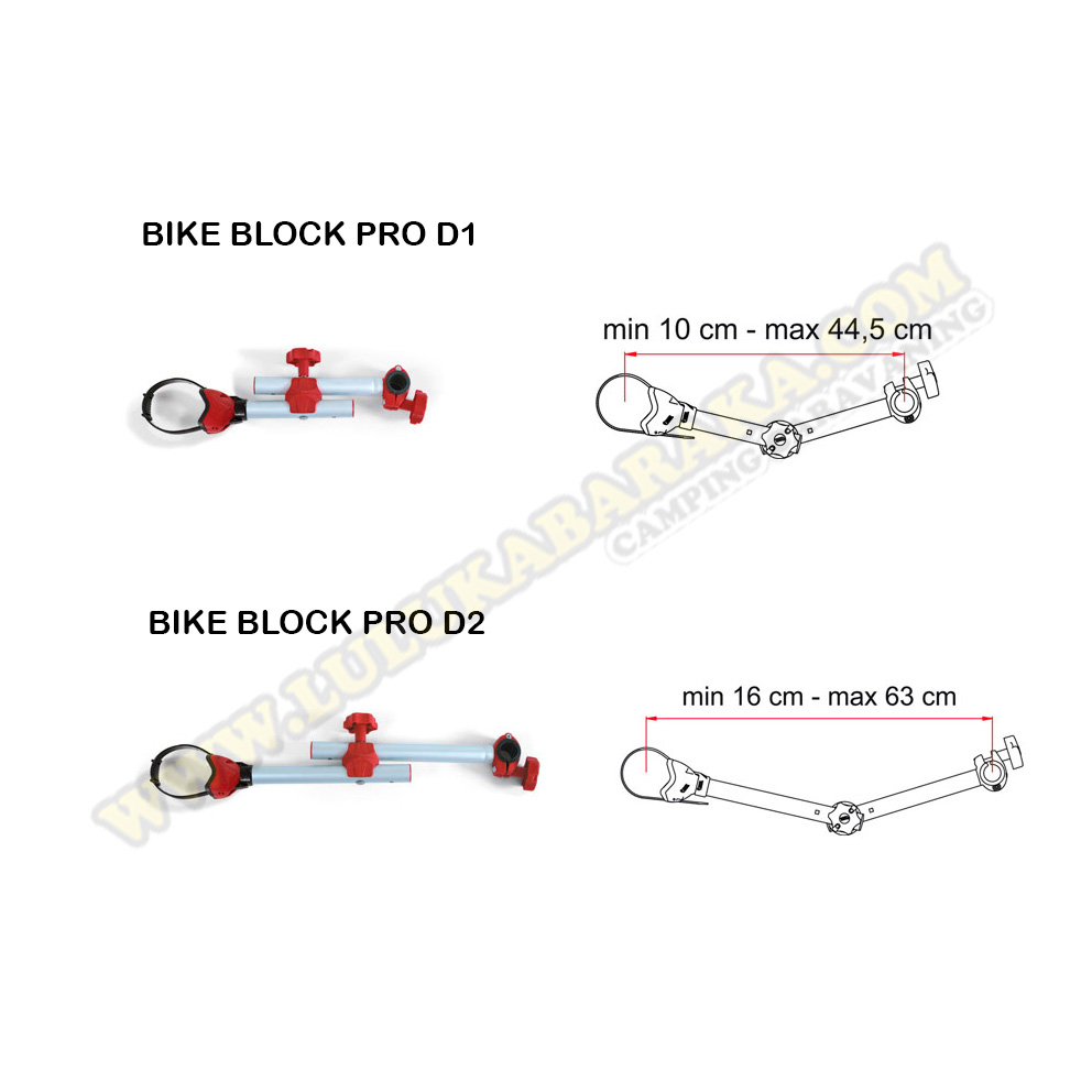Bike Block Pro D regulable (varias medidas y colores)