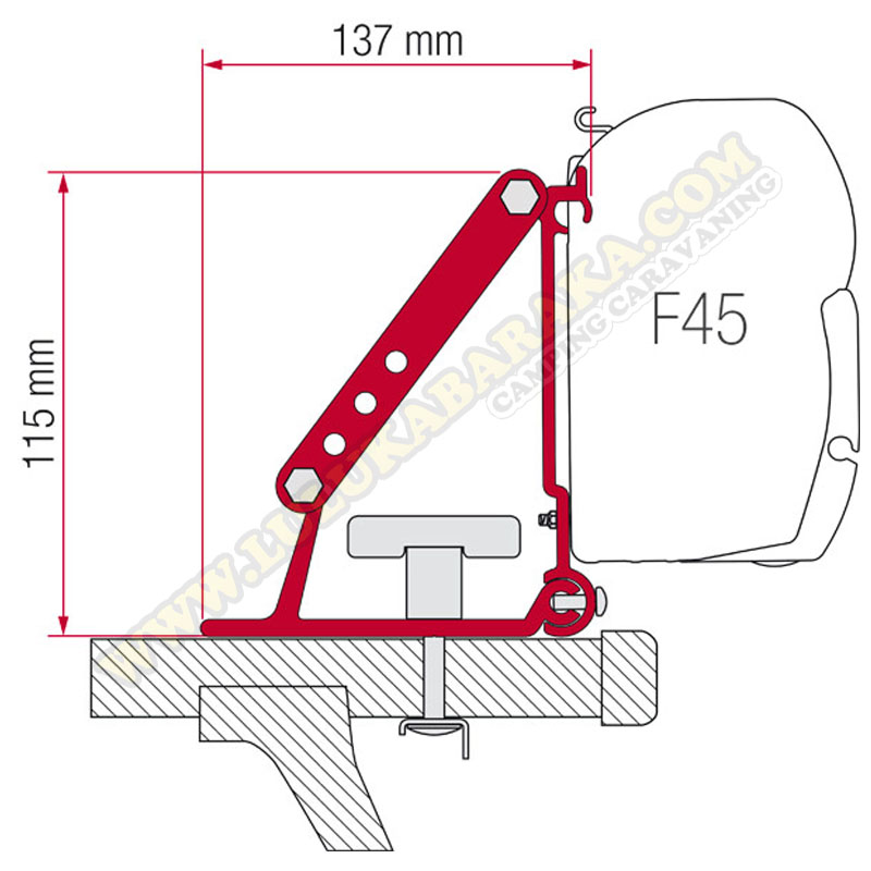 Soporte para F35-F45 Kit Auto Adapter